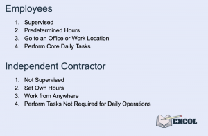 Employee & Independent Contractor Main Differences for Payroll Services