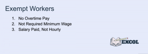 Exempt Workers Requirements