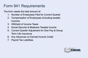 Requirements for Filling Out Form 941 for Business Payroll
