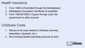 Tax Return Deductions for Health Insurance & Childcare Costs