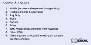 Tax Return | Income & Losses