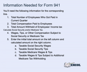 Information Needed to Fill Out Form 941 Lines 1-6