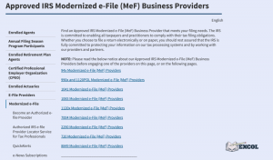 e-Filing Options for Individuals & Businesses | EXCOL, LLC