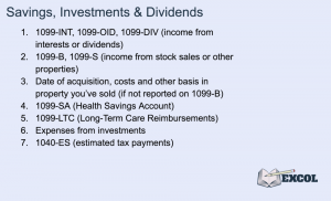 Tax Return | Savings, Investments & Dividends