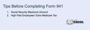Tips Before Completing Form 941